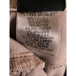 Flying Monkey Jeans - Flying Monkey Womens Skinny Jeans Sz 25 Blush